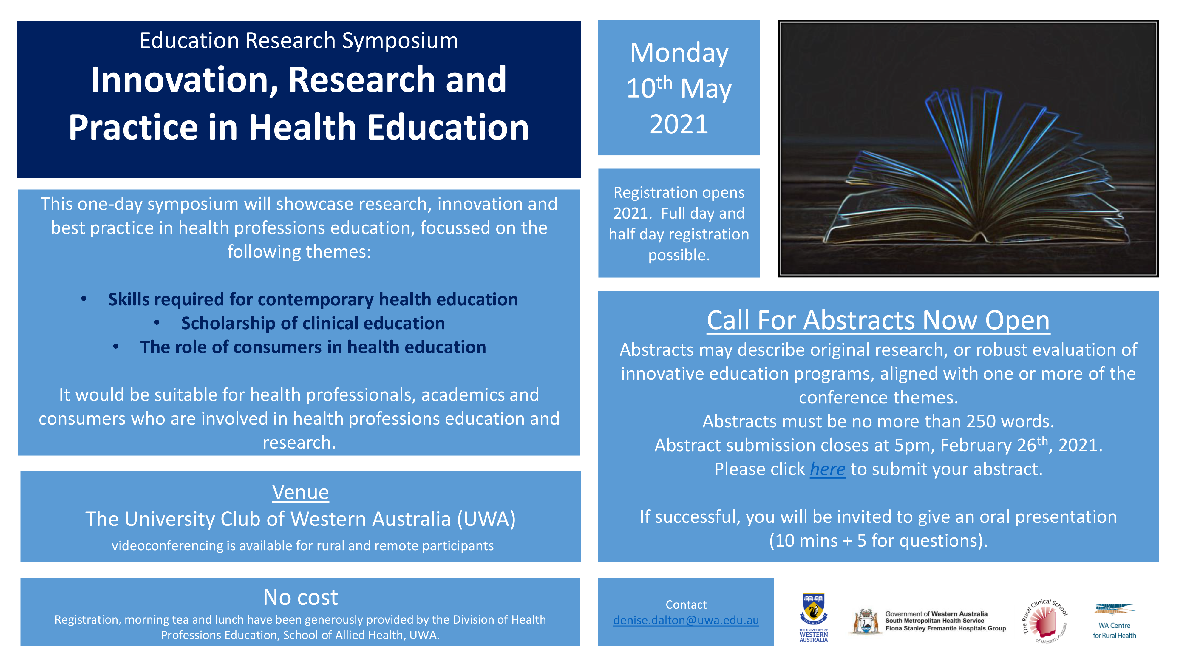 Details for the 2021 Education Research Symposium
