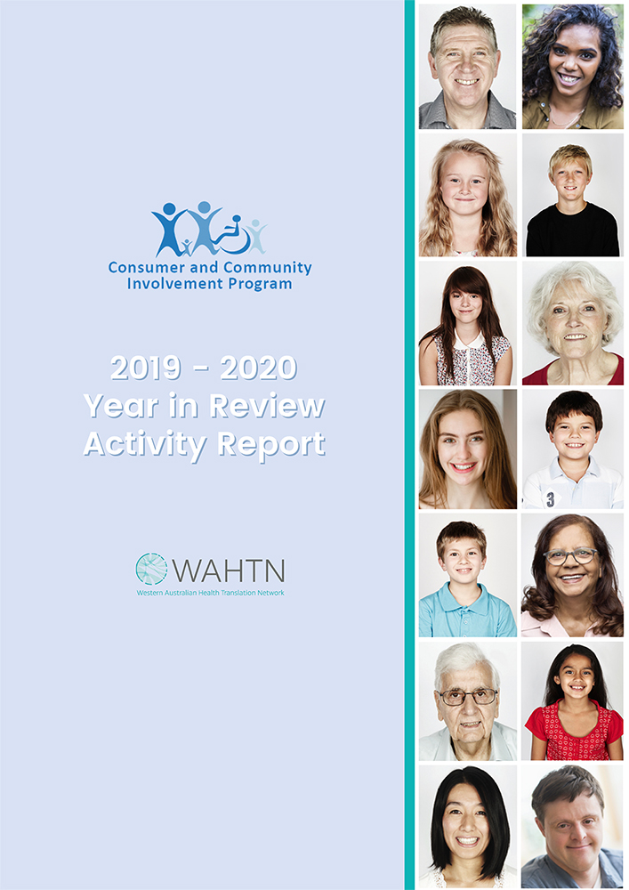 Consumer Community Involvement Program 19/20 Year in Review cover